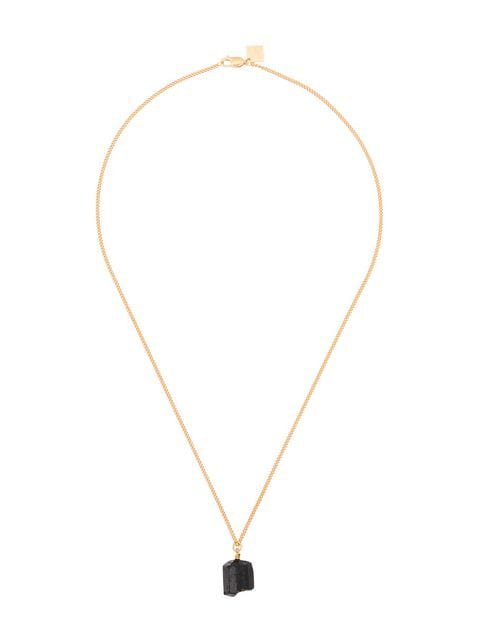 MÄRTA LARSSON 18k yellow gold The Raw One Black Tourmaline necklace