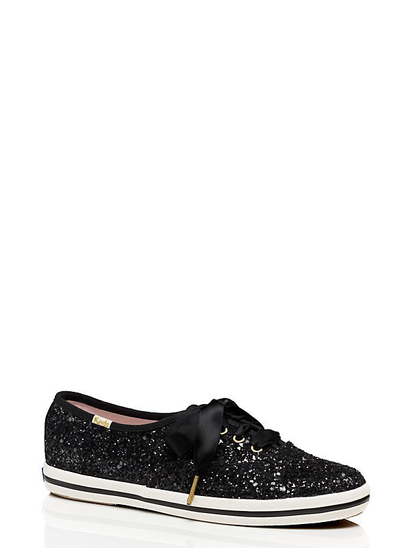 Keds x Kate Spade black glitter sneakers