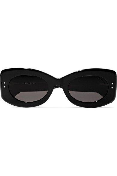 Alaïa   Square-frame studded acetate sunglasses   NET-A-PORTER.COM