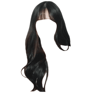 black hair with bangs edit png