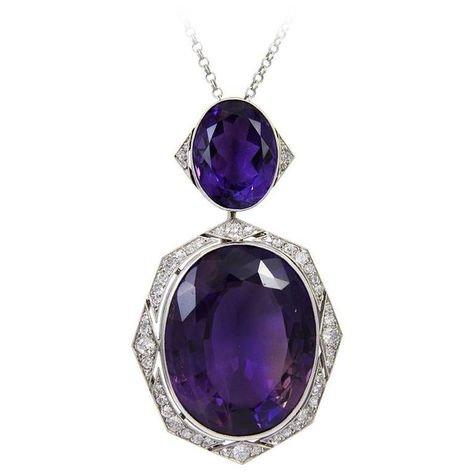 amethyst necklace (Art Deco)