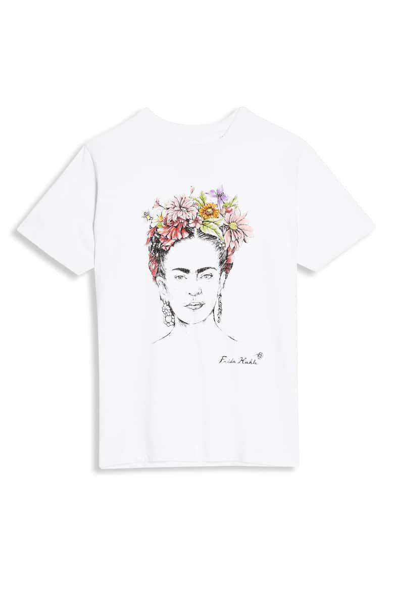 Topshop by Tee & Cake Frida Kahlo Tee white
