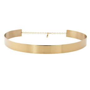 GOLD METAL BELT WITH CHAIN on The Hunt