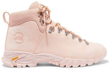 Maser Lt. Hiker Suede Ankle Boots - Pastel pink