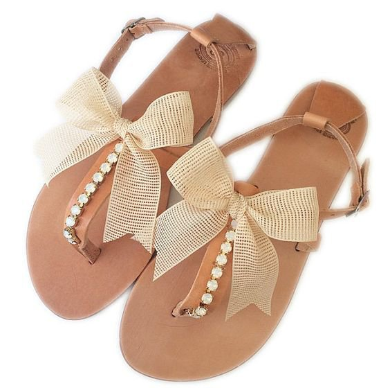 Leather Sandals Wedding Sandals Bridesmaid