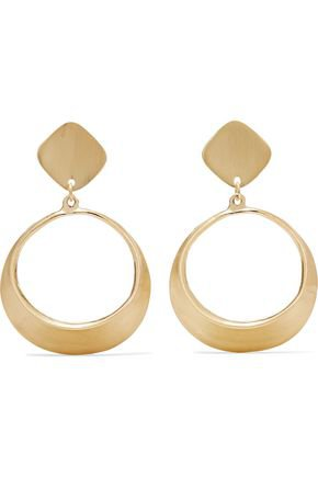 Gold-tone clip earrings | KENNETH JAY LANE | Sale up to 70% off | THE OUTNET