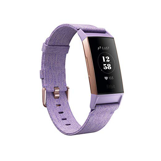 Amazon.com: Fitbit Charge 3 SE Fitness Activity Tracker, Lavender Woven, One Size (S & L Bands Included): Health & Personal Care
