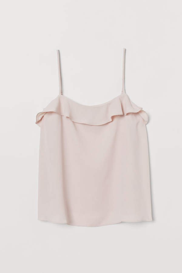 Camisole Top with Flounce - Pink