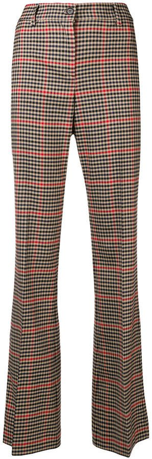 checkered tailored trousers