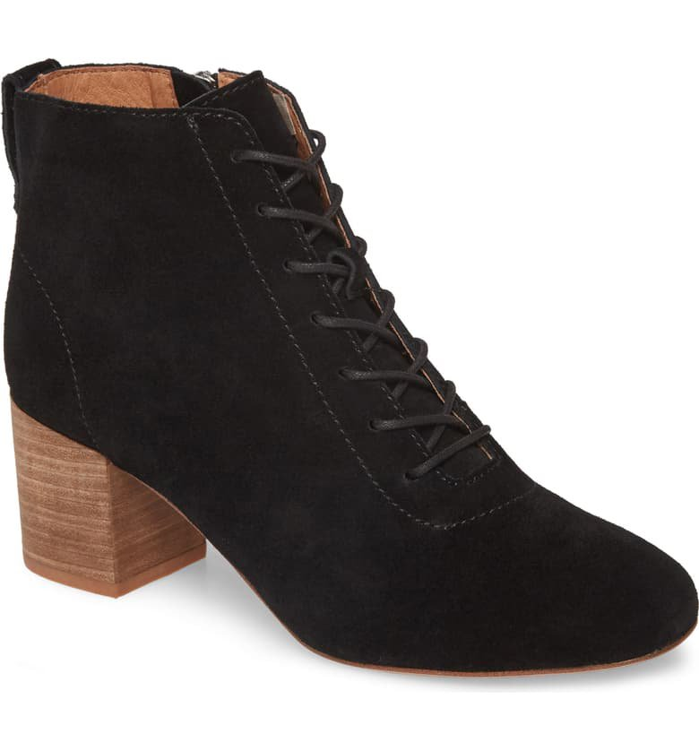 Madewell The Emilia Lace-Up Bootie (Women) | Nordstrom