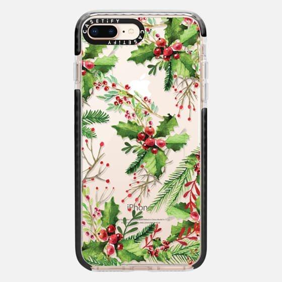 Modern Christmas red green watercolor mistletoe – Casetify