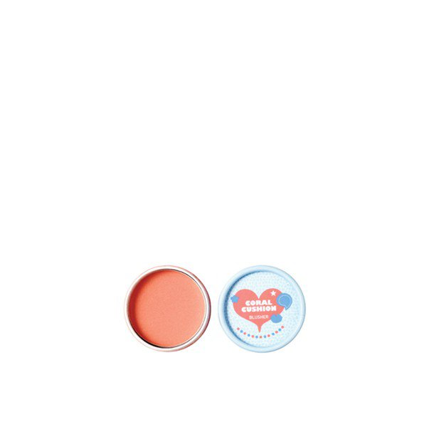 LOVELY MEEX PASTEL CUSHION BLUSHER 02 Coral Cushion : a The Face Shop Exclusive