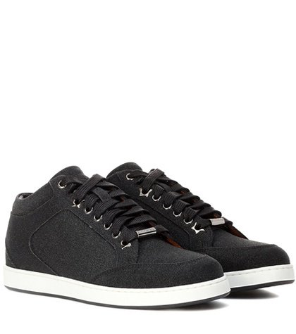 Miami leather and glitter sneakers