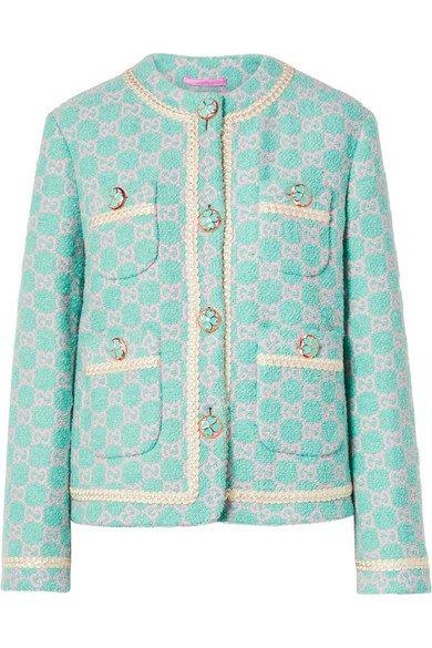 Gucci | Cotton-blend jacquard jacket | NET-A-PORTER.COM