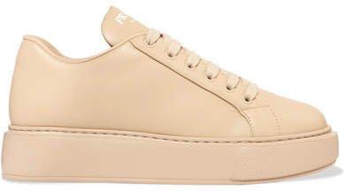 Leather Sneakers - Beige