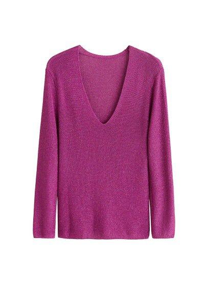 MANGO Fine-knit metallic sweater