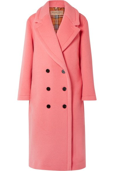 Burberry | Oversized double-breasted wool and cashmere-blend coat | NET-A-PORTER.COM