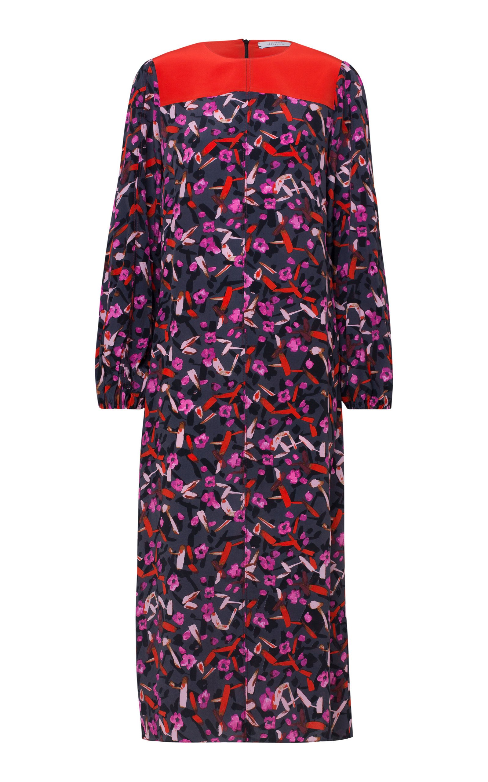 Dorothee Schumacher Abstract Flowering High Neck Printed Dress