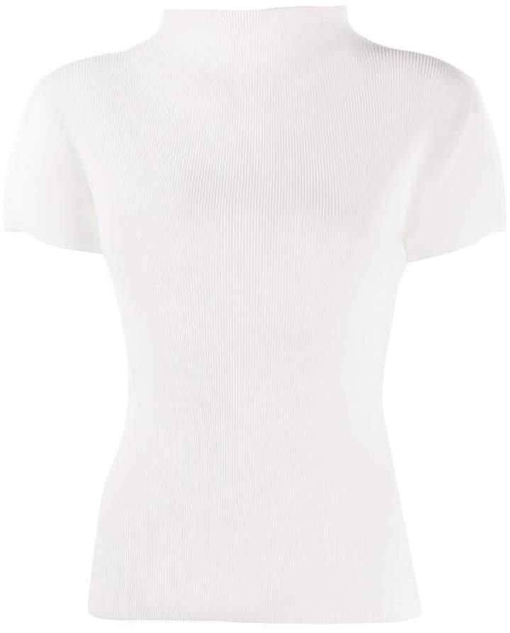 short-sleeve pleated top