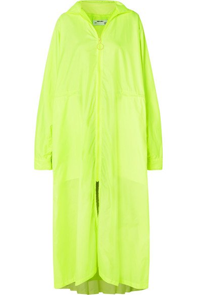 Off-White | Oversized neon shell coat | NET-A-PORTER.COM