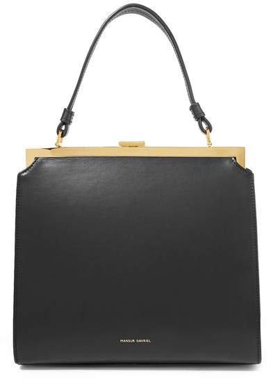 Elegant Leather Tote - Black