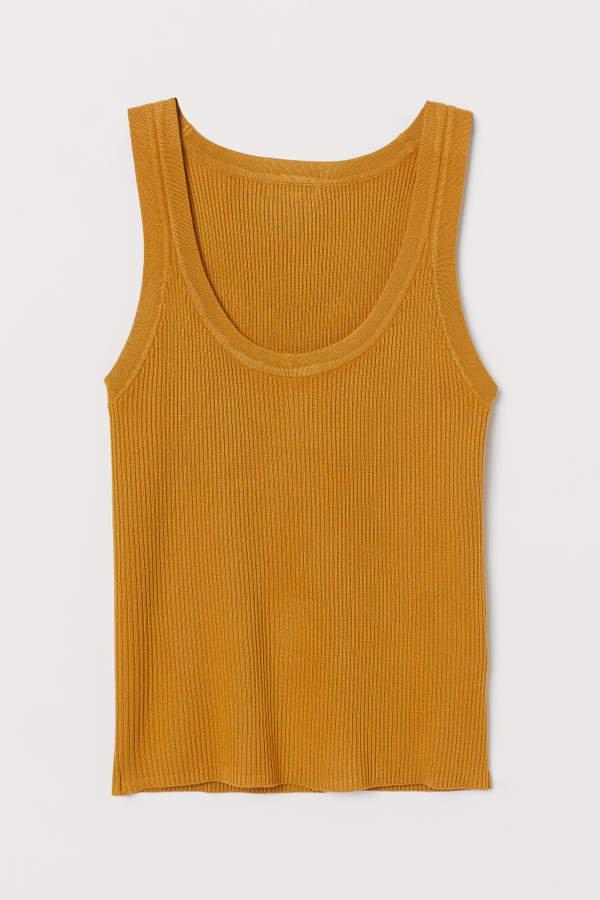 Ribbed Tank Top - Yellow