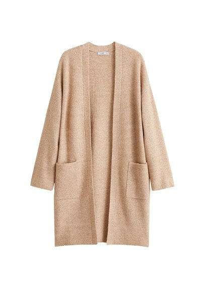 MANGO Pocket long cardigan