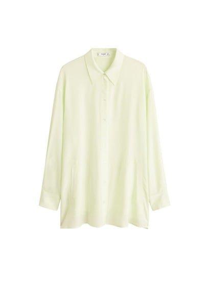 MANGO Fluorescent pocket shirt