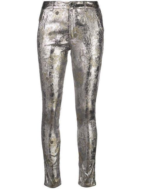 Cynthia Rowley Gold Coast metallic trousers
