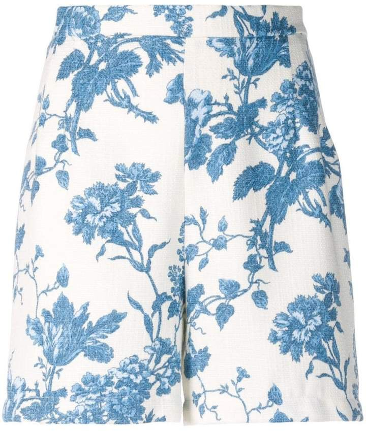 Semicouture floral printed shorts