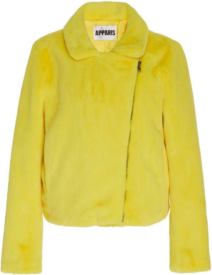 Apparis Tukio Faux Fur Biker Jacket Size: XS