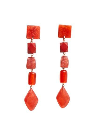 MANGO Mixed resin earrings