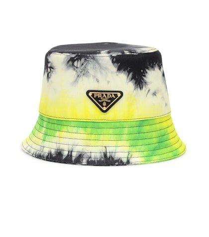 Tie-dye cotton twill bucket hat