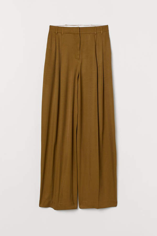Wide-leg Pants - Green