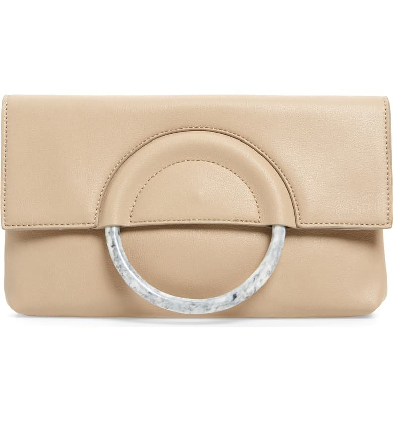 Leith Resin Handle Clutch | Nordstrom