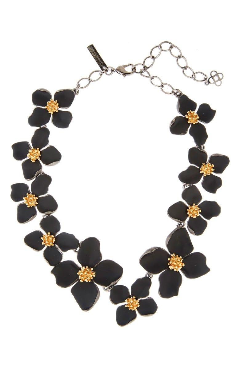 Oscar de la Renta Painted Flower Collar Necklace | Nordstrom