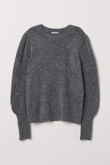 Knit Wool-blend Sweater - Gray
