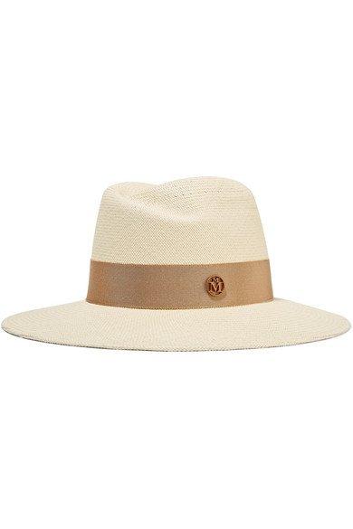 Maison Michel | Grosgrain-trimmed straw hat | NET-A-PORTER.COM