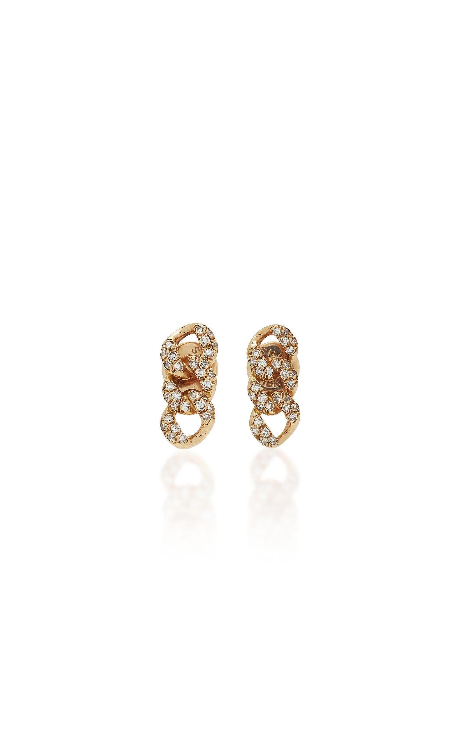 Shay 18K Rose Gold Diamond Earrings