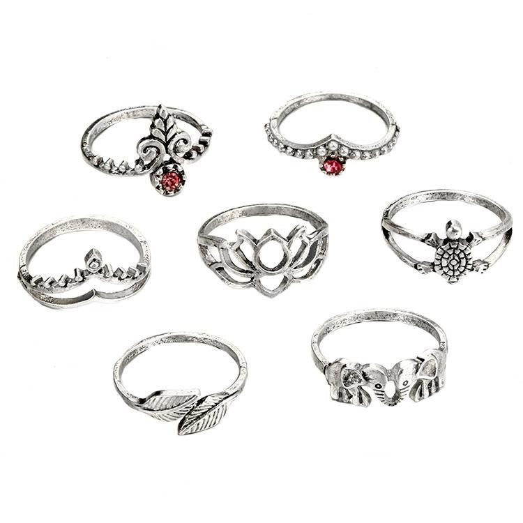 BoHo Moon Ring Set