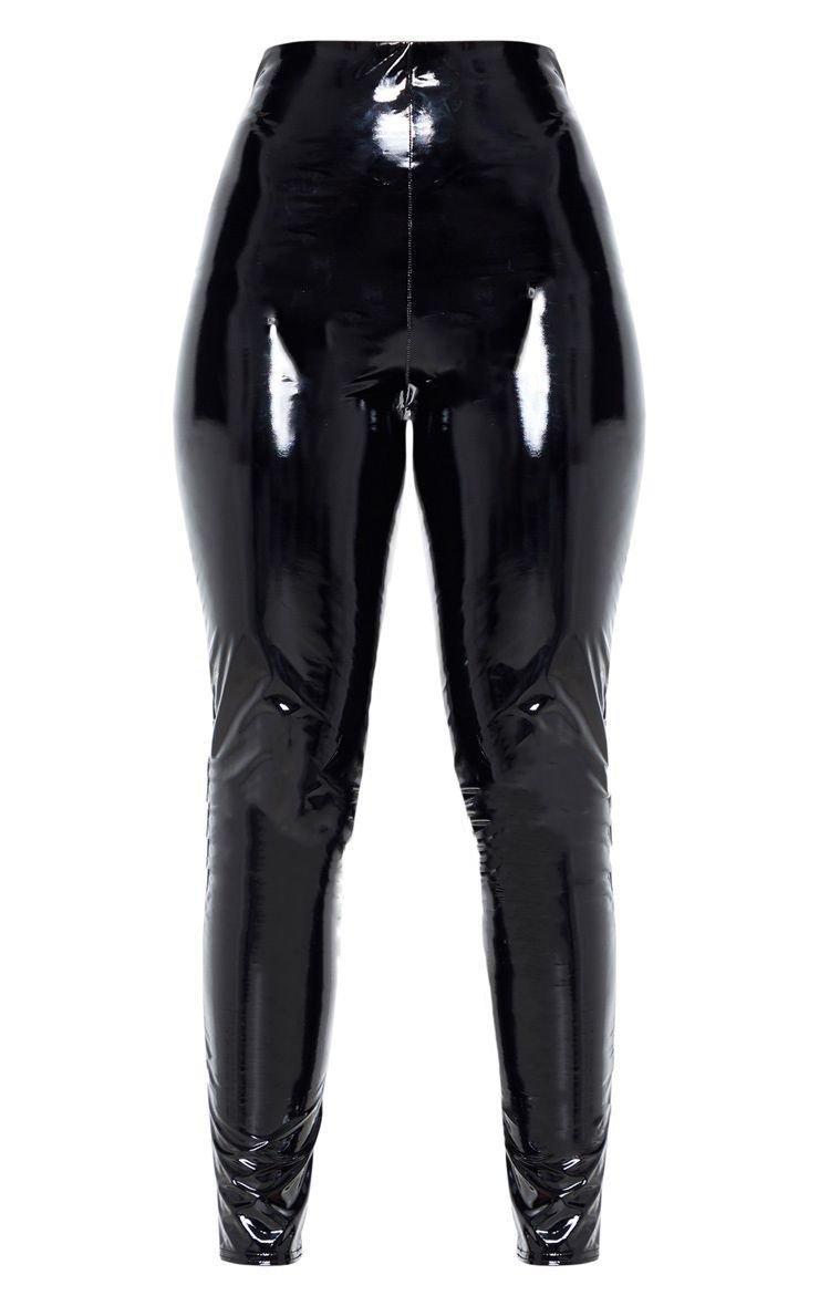 Black High Waisted Vinyl Legging | PrettyLittleThing