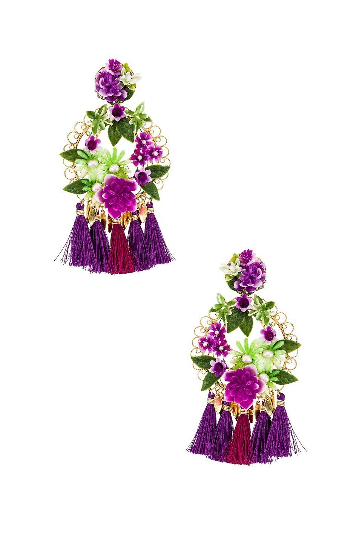 Flower Statement Earrings