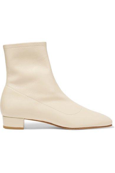 BY FAR | Este leather ankle boots | NET-A-PORTER.COM