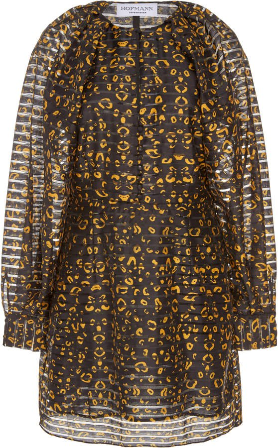 HOFMANN COPENHAGEN Alisa Puff Sleeve Printed Dress