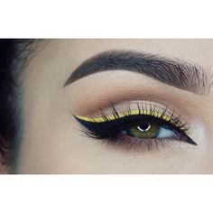 black & yellow eye makeup