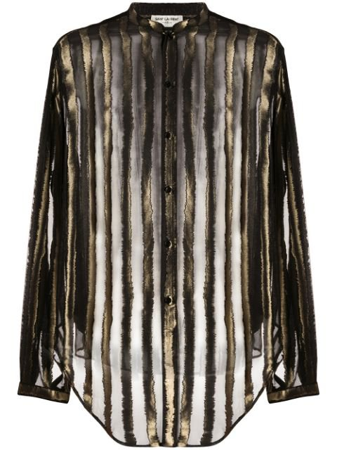 Saint Laurent Sheer Striped Shirt - Farfetch