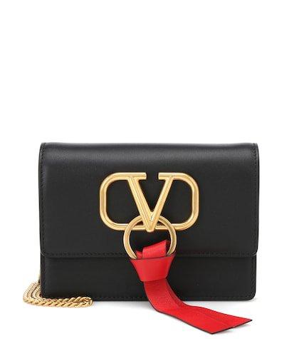 Valentino Garavani VRING leather shoulder bag