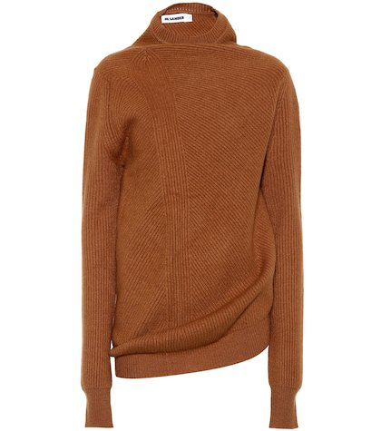 Draped wool and cashmere sweater