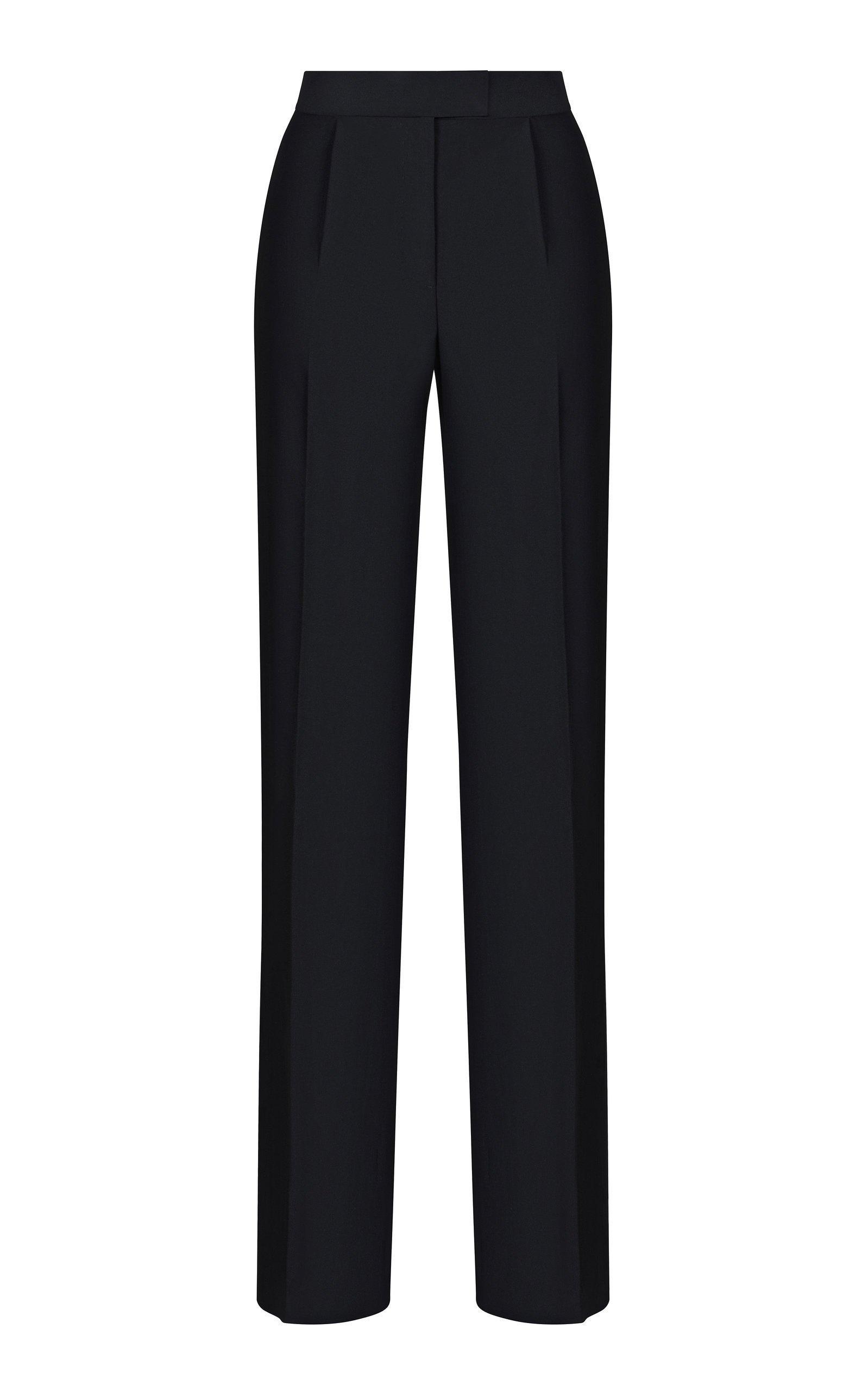Rasario High-Waist Crepe Straight-Leg Pants