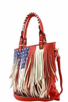 USA Flag Fringe Purse - Pinterest